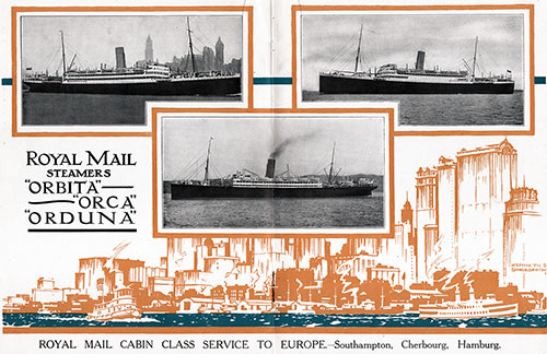 "Royal Mail Steamers ""Orbita,"" ""Orca,"" and ""Orduña."""