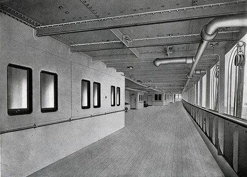 The Promenade Deck is Designed for Exercise.