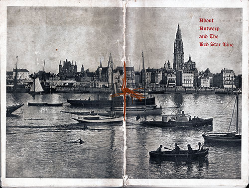 Full Cover of the 1904 Red Star Line Brochure About Antwerp.