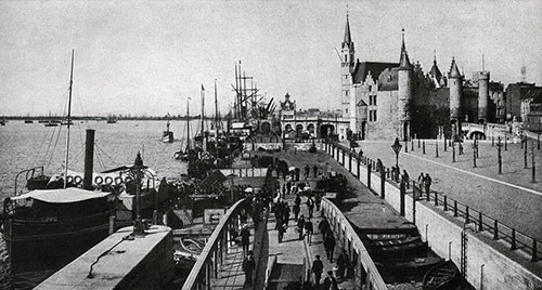 The Steen Landing at Antwerp.