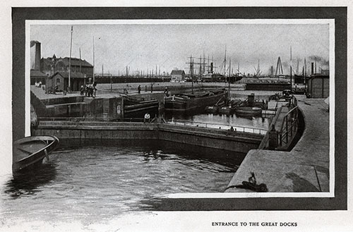 Entrance to the Great Docks at Antwerp.