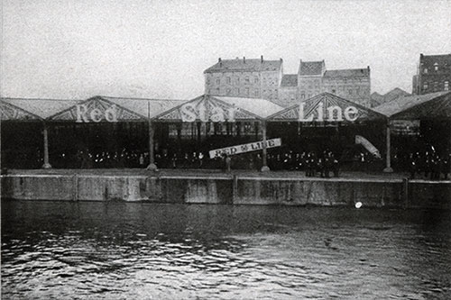 The Red Star Line Pier at Antwerp.