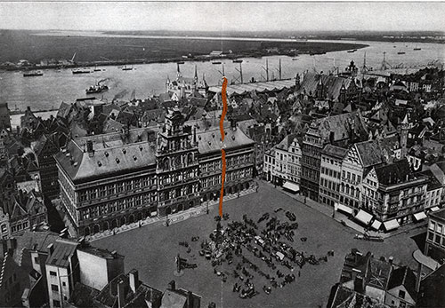 Panoramic View of the Port of Antwerp and the Red Star Line Docks.