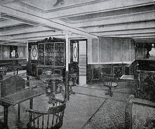 Second Class Lounge -- SS Lapland.