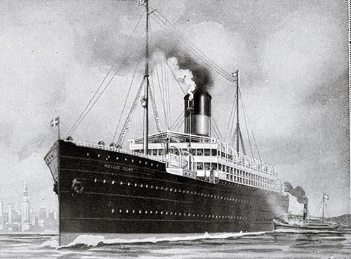 The SS Hellig Olav of the Scandinavian American Line 1903-1934.