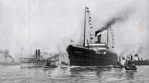 The SS Oscar II of the Scandinavian American Line 1901-1933.