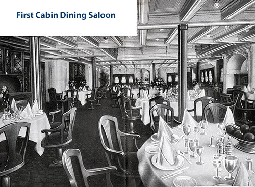 First Cabin Dining Saloon.
