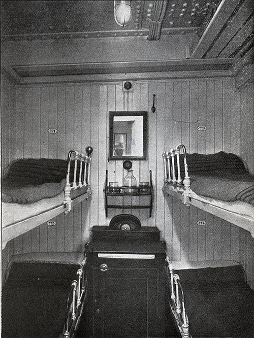 Third Class Four-Berth Cabin.