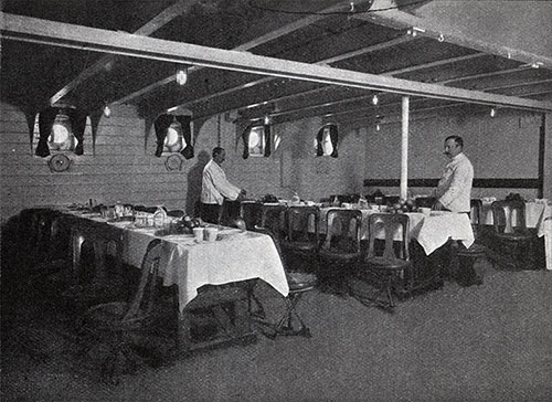 Another View of Preparing the Third-Class Dining Room for the Next Meal.