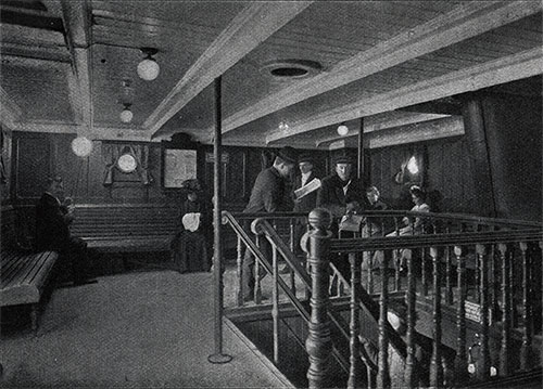 View of the Third Class Lounge.