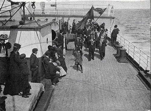 Band Plays Music on the Aft Deck.