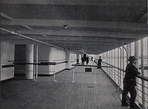 View of the Third Class Promenade Deck.
