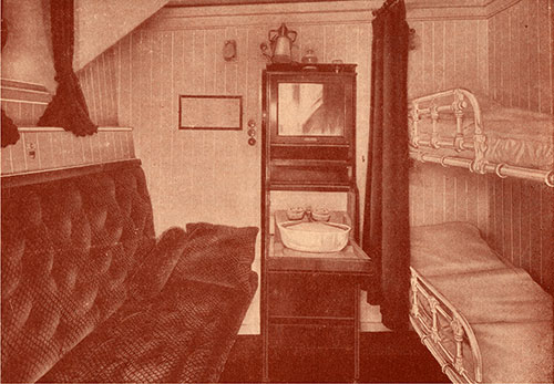 Typical Stateroom of the Tourist Third Cabin.