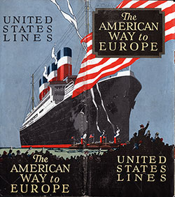 "Front Cover of a 1924 Brochure from the United States Lines Entitled ""The American Way to Europe."
