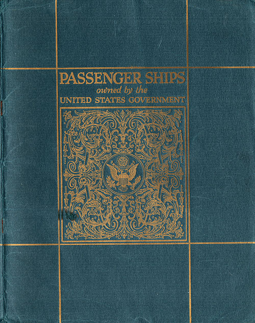 Front Brochure Cover of Passenger Ships Owned by the United States Government Published in 1922