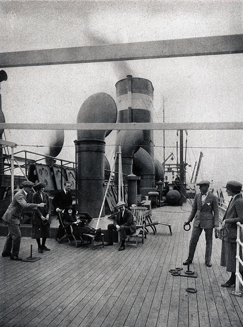 Passengers Playing Quoits on the Boat Deck.