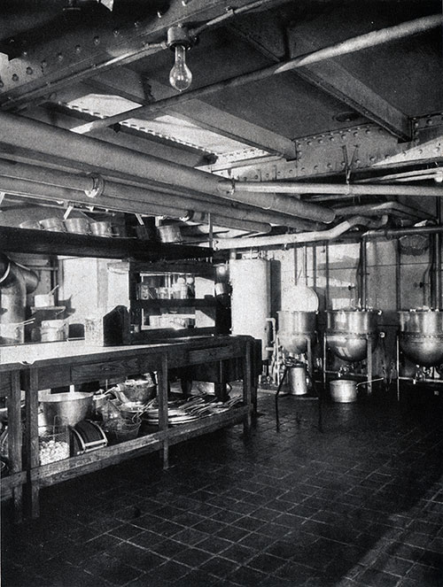 A Spotless Kitchen for a Ship's Galley.