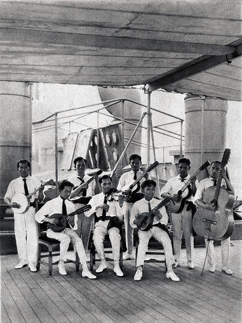 The Ship's Band Plays Music Around the Ship at Designated Times for the Passengers.