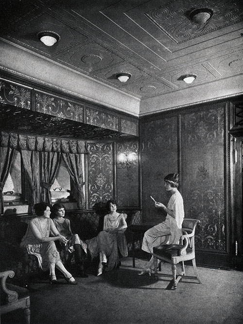 First Class Social Hall on the SS George Washington.