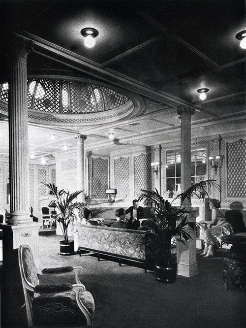First Class Lounge on the SS America.