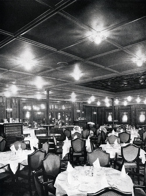 First Class Dining Saloon on the SS America.