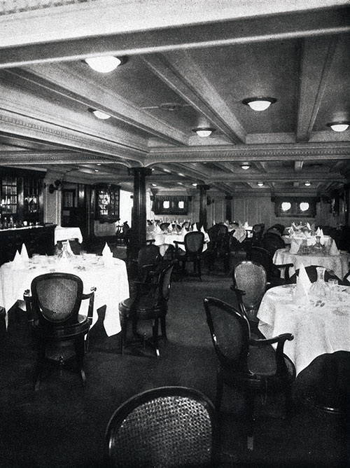 Dining Saloon on the SS President Garfield.