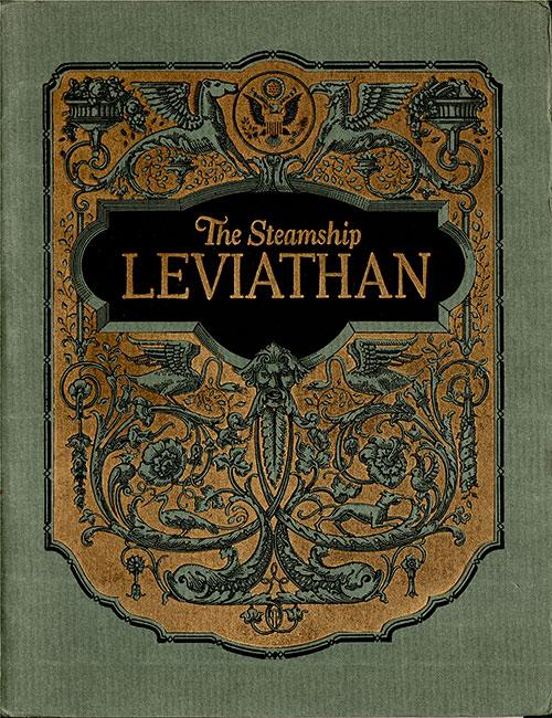 Front Cover of 1923 Brochure Introducing the Flagship of the United States Lines, the Incomparable Steamship Leviathan.