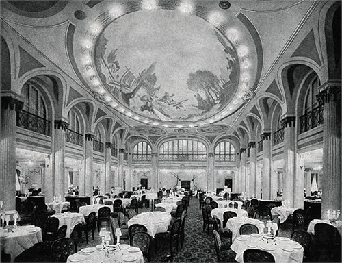 View of the Main Dining Saloon.