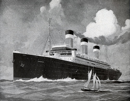 Painting of the Famous United States Lines Steamship Leviathan.