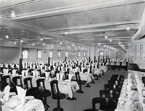 Third Class Dining Saloon on the SS Leviathan.