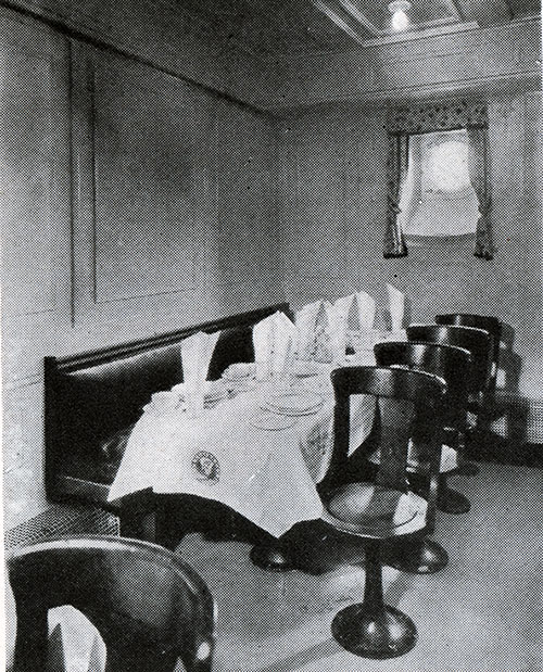 A Small Family Table is Available for Third Class Passengers on the SS Leviathan.