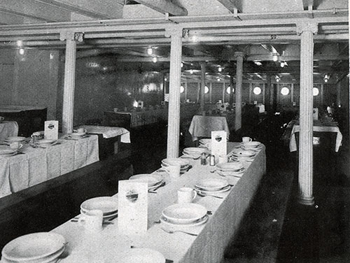 Third Class Dining Saloon on the SS America.