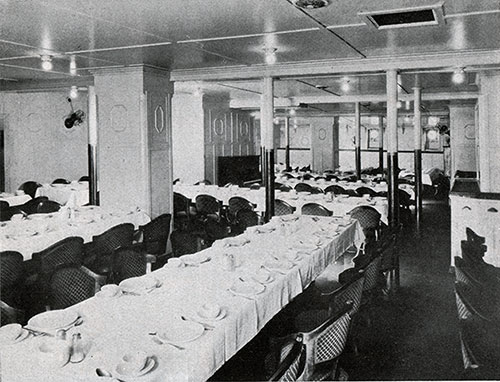 Third Class Dining Saloon on the SS George Washington.