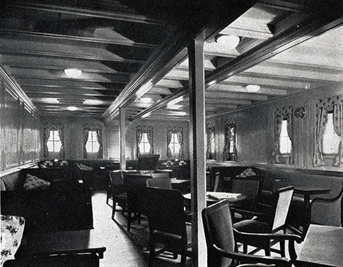 Third Class Ladies' Lounge on the SS Leviathan.