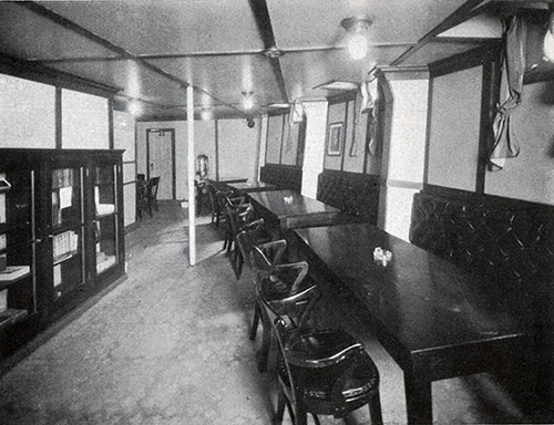 Third Class Smoking Room on the SS President Harding.