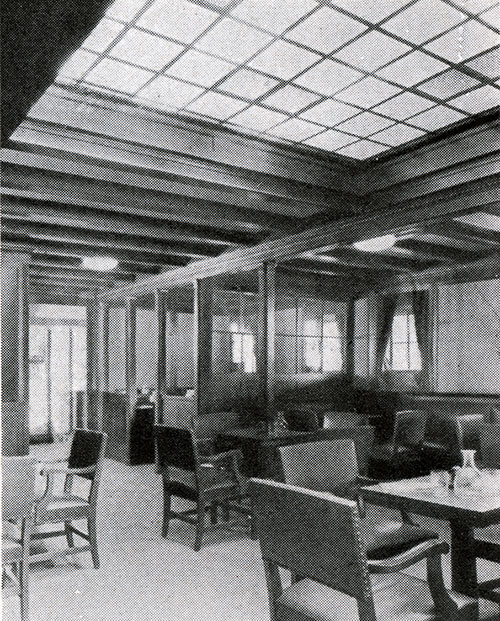 A Corner of the Third Class Smoking Room on the SS Leviathan.