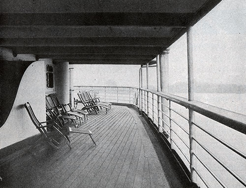 View of the Third Class Deck on the SS George Washington.