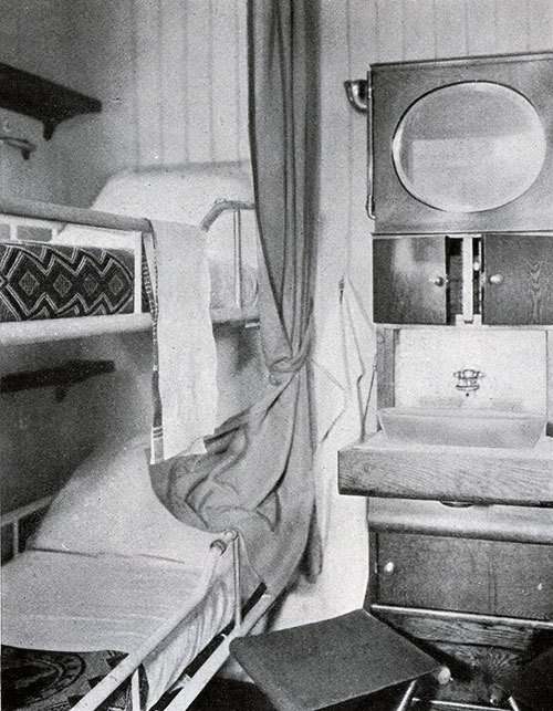 Third Class Two-Berth Stateroom on the SS Leviathan.