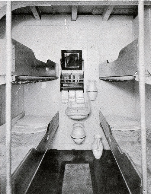 Third Class Four-Berth Stateroom on the SS President Harding.