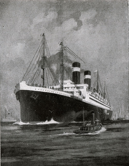 The Steamship George Washington. Next to the Leviathan, the Largest Liner Under the American Flag.