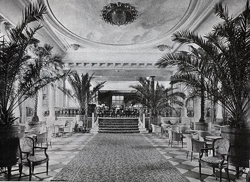 Palm Court Showing Approach to Restaurant.