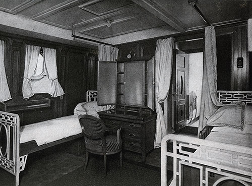 Two-Bed Stateroom with Connecting Bath.