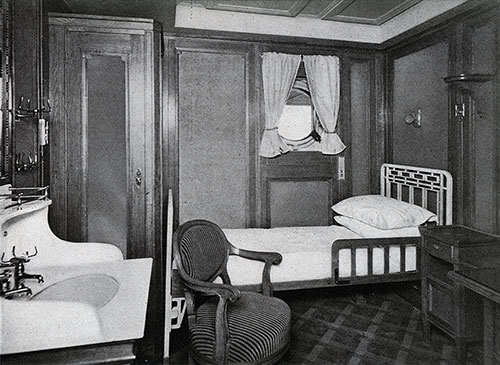 Typical Single-Bed Stateroom.