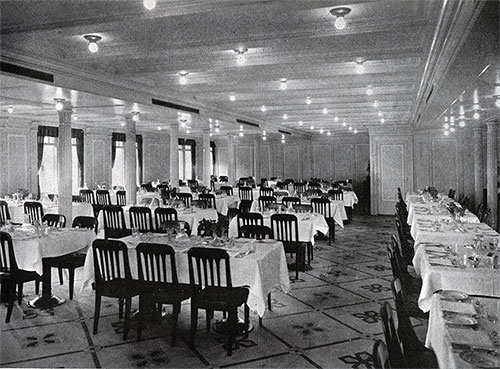 Second Class Dining Saloon - Light and Airy.