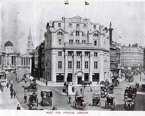 White Star Line West End Offices, London.