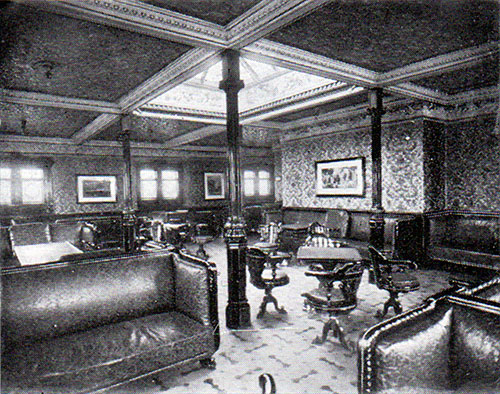 First Class Smoking Room on the RMS Arabic.