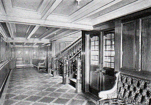 Entrance to First Class Dining Saloon on the RMS Republic.