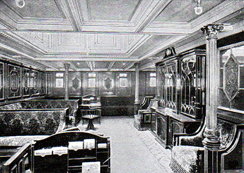 First Class Library on the RMS Republic.