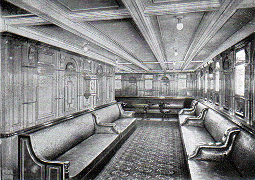 First Class Lounge on the RMS Republic.