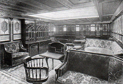 First Class Library on the RMS Romanic.